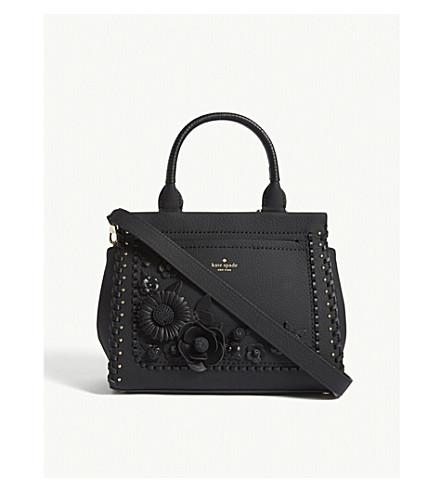 KATE SPADE NEW YORK Madison Layden Larissa floral leather shoulder bag (Black