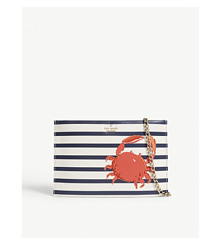KATE SPADE NEW YORK Shore Thing leather pouch (Cement