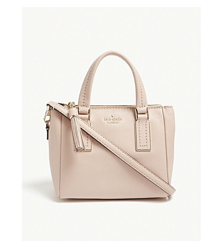 Limited Edition Quality Free Shipping Low Price KATE SPADE NEW YORK Kingston Drive mini Alena leather shoulder bag Warm vellum 7Gh3vI