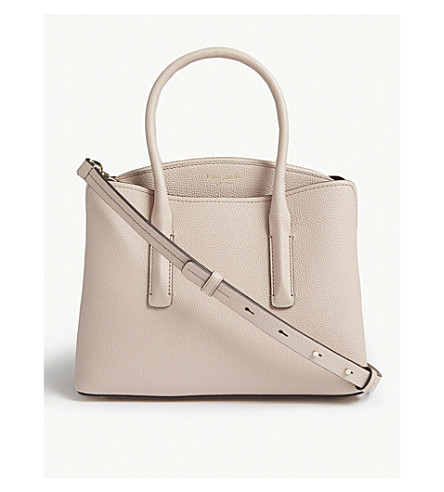 1c270f25060c KATE SPADE NEW YORK Margaux small leather satchel (Pale+veluum roasted+fig