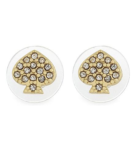 KATE SPADE NEW YORK Crystal stud earrings (Gold/crystal