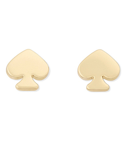 KATE SPADE NEW YORK Spade mini stud earrings (Gold
