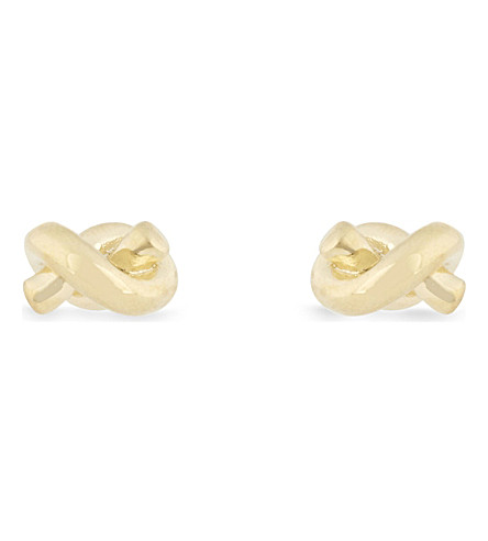 KATE SPADE NEW YORK Sailor's knot gold-plated earrings (Gold