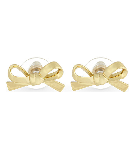 KATE SPADE NEW YORK Skinny Mini bow stud earrings (Gold