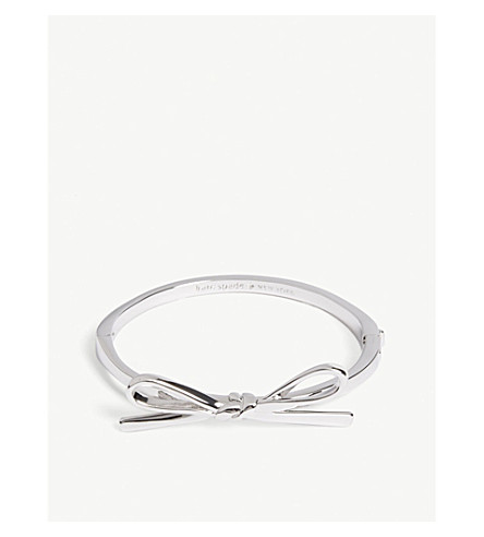 KATE SPADE NEW YORK Skinny bow bangle (Silver