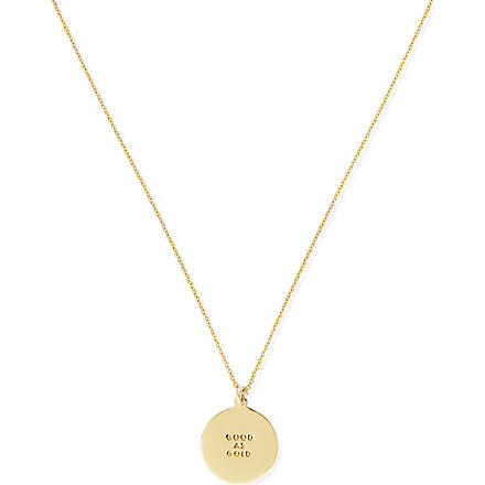 KATE SPADE Good as gold disc necklace (Gold