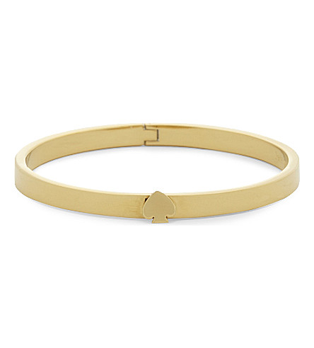 KATE SPADE NEW YORK 12 carat gold plated hinged bangle (Gold