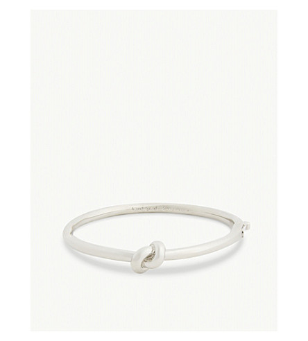 KATE SPADE NEW YORK Sailor's knot hinged bangle (Silver