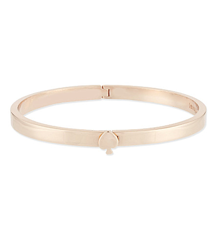 KATE SPADE NEW YORK Hinged bangle (Rose+gold