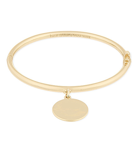 KATE SPADE NEW YORK Partners in crime 12ct gold-plated bangle (Gold