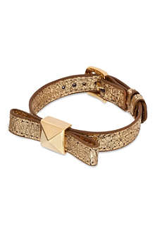 KATE SPADE Locked in leather bow bracelet