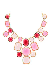KATE SPADE Microfacet 12ct gold-plated chunky necklace