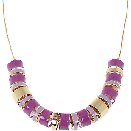 KATE SPADE Long cylinder necklace (Purple/light purple