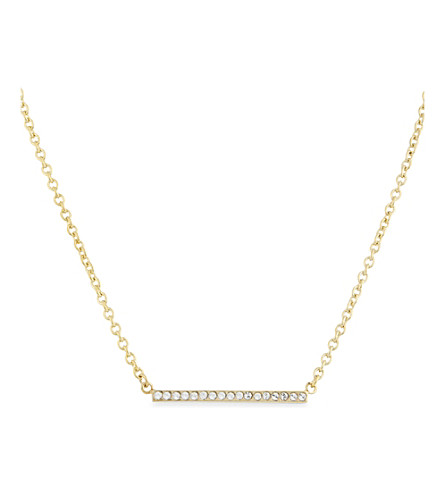KATE SPADE NEW YORK Dainty Sparklers gold-plated necklace (Clear