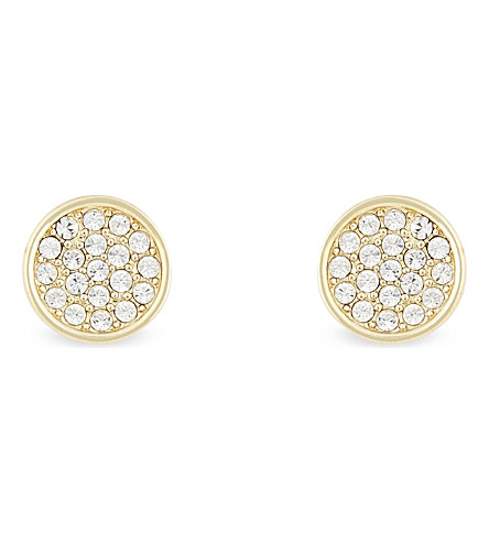 KATE SPADE NEW YORK Dainty Sparklers pavé disc earrings (Clear