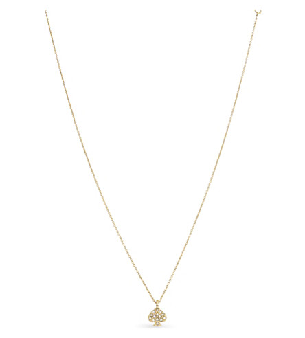 KATE SPADE NEW YORK Signature Spade necklace (Clear