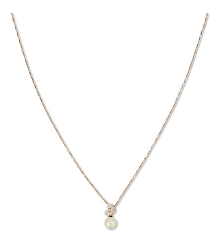 KATE SPADE NEW YORK Disco Pansy pearl pendant (Cream+multi/rose+gold