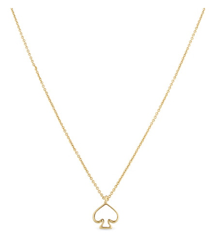 KATE SPADE NEW YORK Signature Spade mini gold-plated pendant (Multi