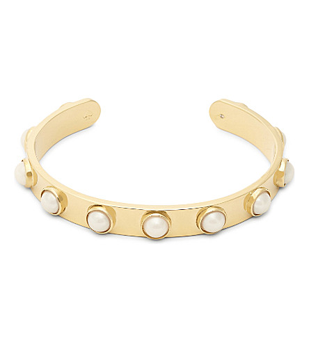 KATE SPADE NEW YORK Tag Along gold-plated cuff (Cream