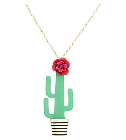 KATE SPADE NEW YORK Scenic Route cactus pendant (Multi