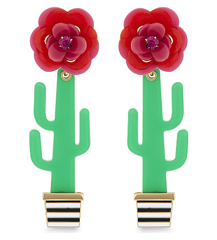 KATE SPADE NEW YORK Scenic Route cactus stud earrings (Multi