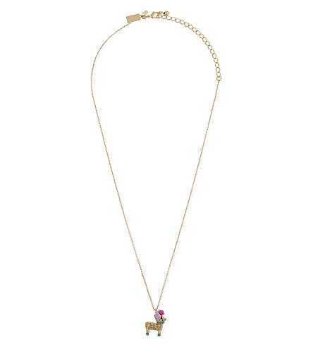 KATE SPADE NEW YORK Haute Stuff Penny the Piñata gold-plated pendant necklace (Multi
