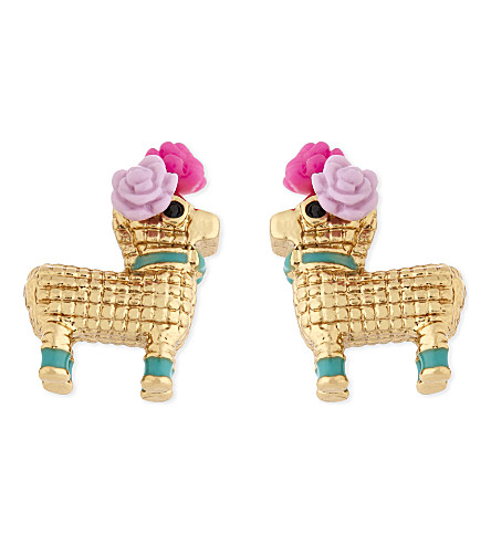 KATE SPADE NEW YORK Haute Stuff Penny the Piñata gold-plated earrings (Multi