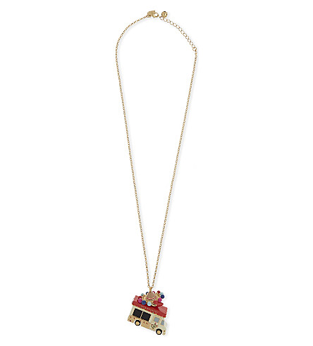 KATE SPADE NEW YORK Haute Stuff taco truck pendant necklace (Multi