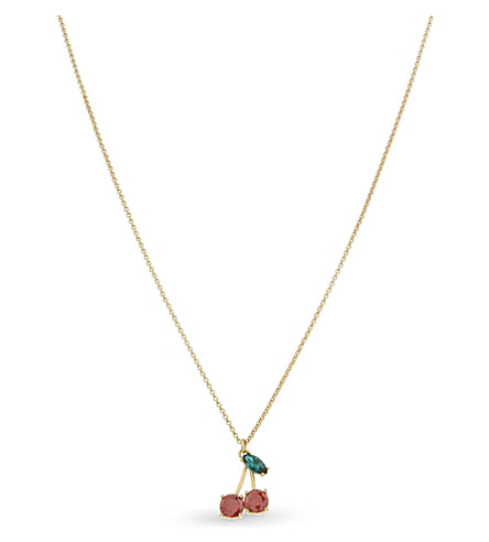KATE SPADE NEW YORK Ma Cherie mini cherry pendant necklace (Multi