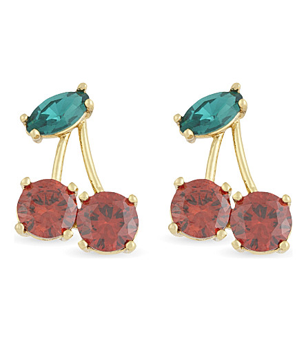 KATE SPADE NEW YORK Ma Cherie Cherry stud earrings (Multi