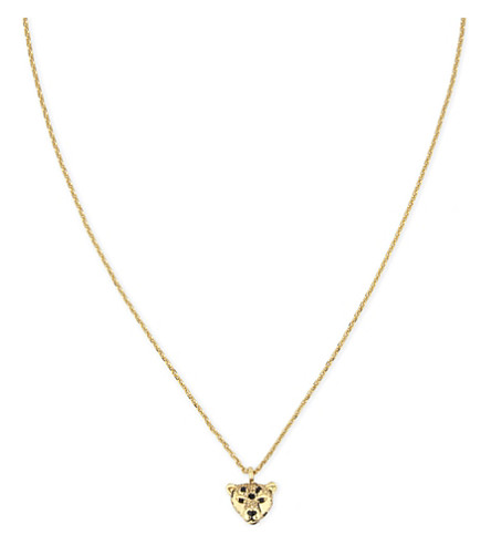 KATE SPADE NEW YORK Run Wild cheetah mini necklace (Multi