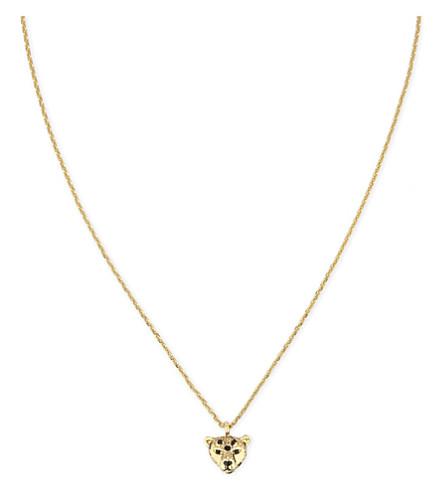 KATE SPADE NEW YORK Run Wild cheetah mini necklace (Multi