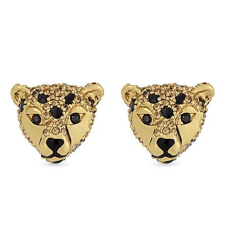 KATE SPADE NEW YORK Crystal cheetah stud earrings (Multi