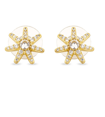 KATE SPADE NEW YORK Seeing Stars stud earrings (Clear/gold