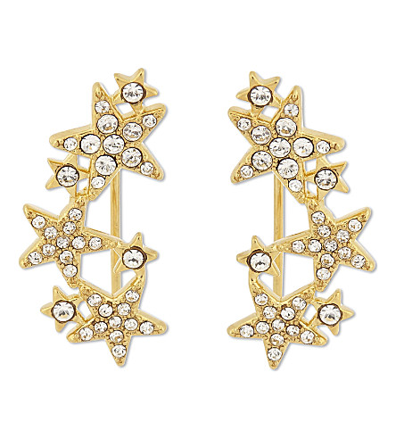 KATE SPADE NEW YORK Seeing Stars drop star earrings (Clear/gold