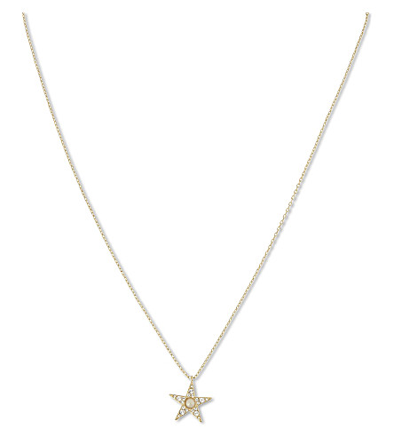 KATE SPADE NEW YORK Seeing Stars pendant necklace (Clear/gold