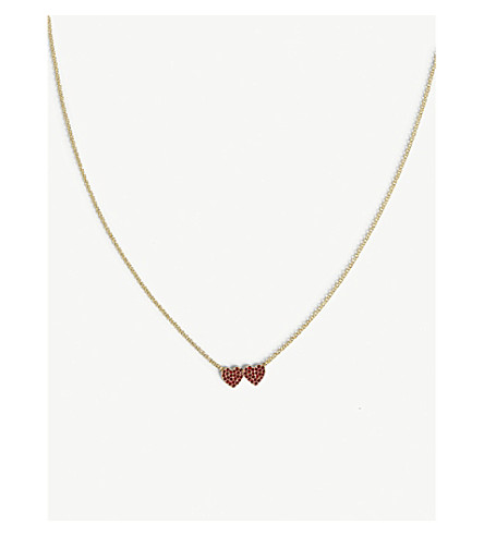 KATE SPADE NEW YORK Yours Truly mini heart necklace (Red