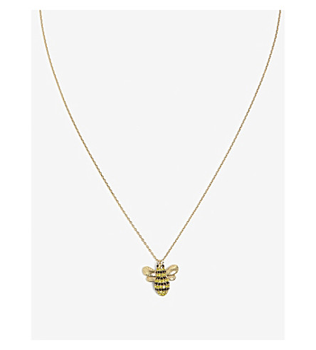 KATE SPADE NEW YORK Picnic perfect pavé bee necklace (Multi