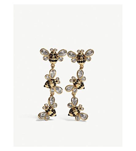 KATE SPADE NEW YORK Picnic Perfect bee drop stud earrings (Multi