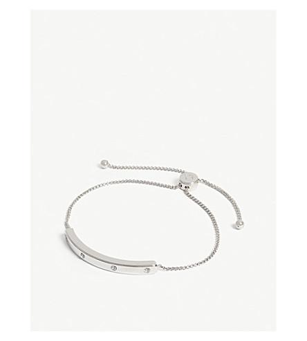 KATE SPADE NEW YORK Stone-embellished slider bracelet (Clear/silver