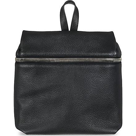 KARA Pebbled leather backpack (0001