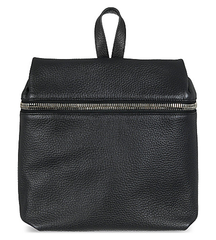 KARA Pebbled leather backpack (0001