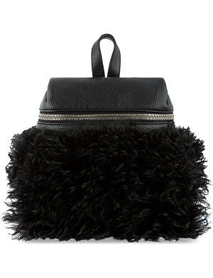 KARA Shearling leather backpack