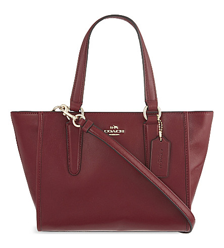 COACH Mini Crosby leather tote (Li/black+cherry