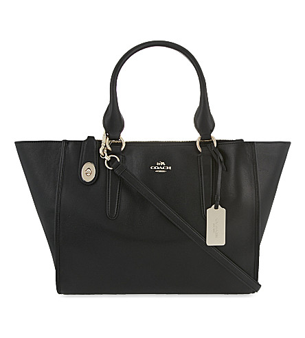COACH Crosby leather tote (Black