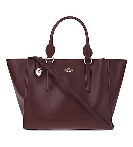 COACH Crosby leather tote (Li/burgundy