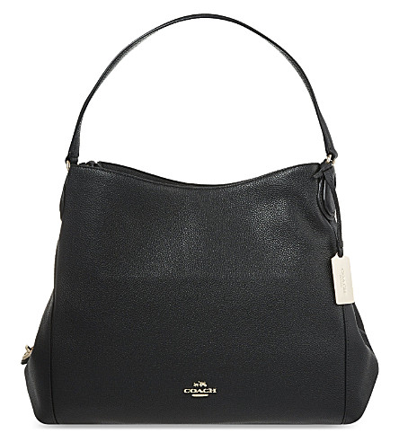 COACH Edie grained leather shopper (I/black