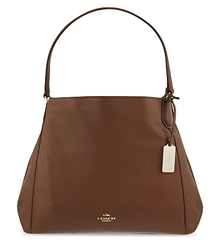 COACH Edie grained leather shopper (Li/saddle