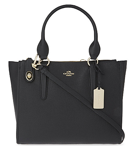 COACH Crosby grained leather shoulder bag (Li/black