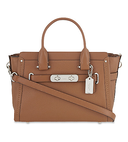 COACH Swagger leather tote (Saddle